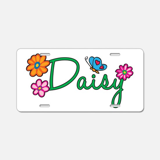 Daisy Flowers Aluminum License Plate