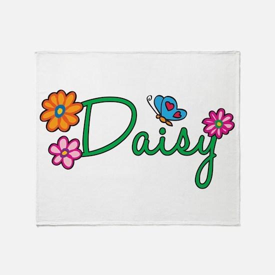 Daisy Flowers Throw Blanket