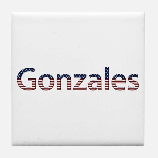 Gonzales Stars and Stripes Tile Coaster