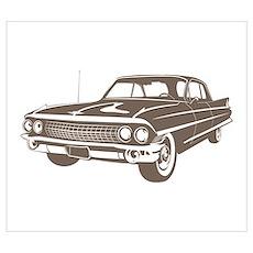 1961 Cadillac Coupe de Ville Poster