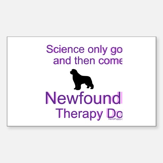 Newfoundland Therapy Dog Sticker (Rectangle)