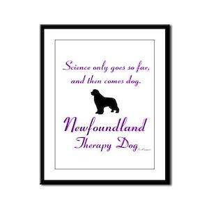 Newfoundland Therapy Dog Framed Panel Print
