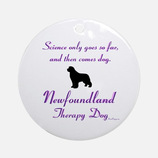 Newfoundland Therapy Dog Ornament (Round)