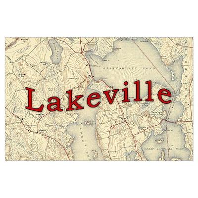 Lakeville Massachusetts Old Map Poster