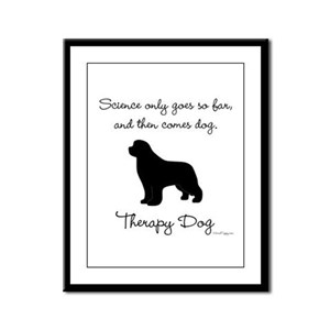 Therapy Dog Framed Panel Print