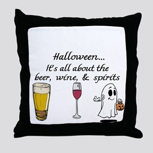 Beer, Wine, and Spirits Throw Pillow