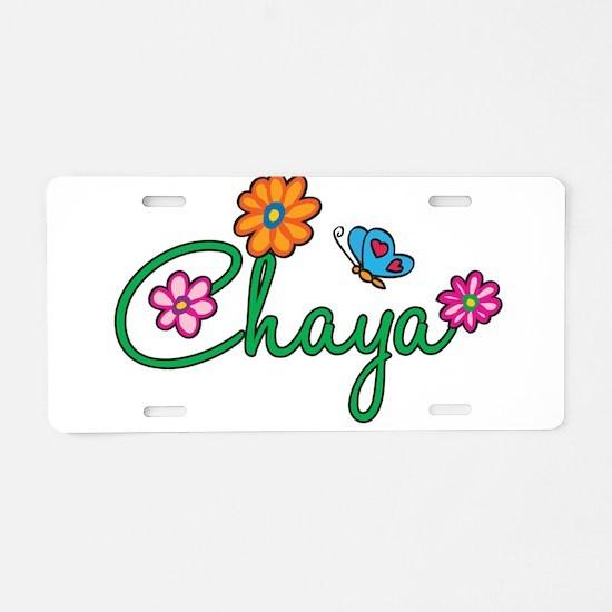 Chaya Flowers Aluminum License Plate