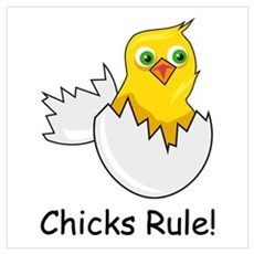 CHICKS RULE Poster