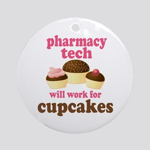 Funny Pharmacy Tech Ornament (Round)