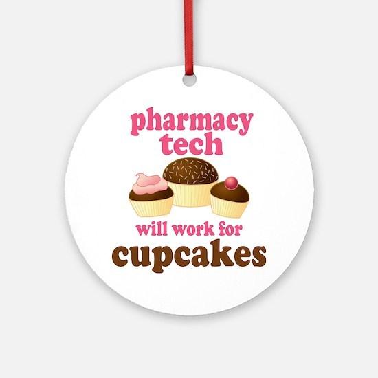 Funny Pharmacy Tech Ornament (Round)
