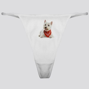 Westie With Red Bandana Classic Thong
