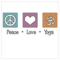 Peace Love Yoga Poster