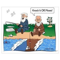 Fishing With Moses Framed Print