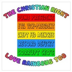 CHRISTIAN RIGHTS RAINBOW Poster