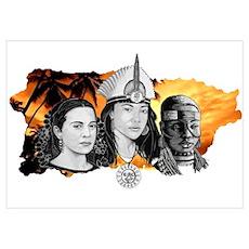 MI RAZA WOMEN WITH BORIKEN Poster