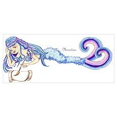 Merartsea painting blue & purple Poster