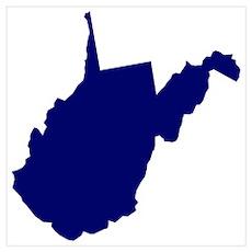 West Virginia - Blue Poster