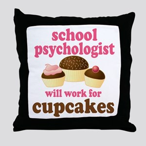 Funny School Psychologist Throw Pillow