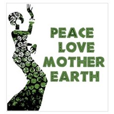 Peace Love Mother Earth Framed Print
