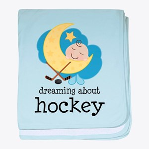 Dreaming About Hockey baby blanket