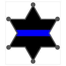 Blue Line Badge 2 Poster