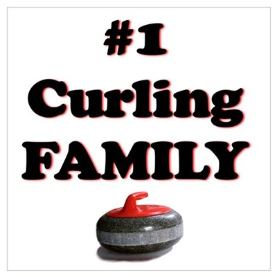 #1 Curling Family Poster