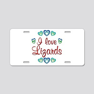 I Love Lizards Aluminum License Plate