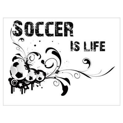 Soccer is life Framed Print