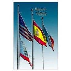 Flags over California Poster
