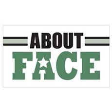 About Face Military Poster