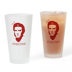 Viva Darwin Evolution! Drinking Glass