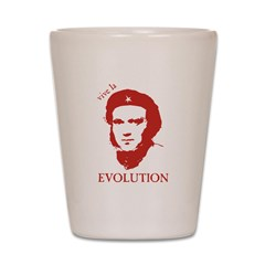 Viva Darwin Evolution! Shot Glass