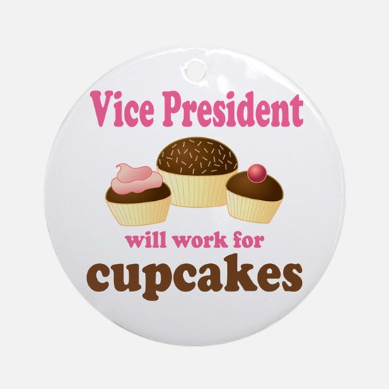 Funny Vice President Ornament (Round)
