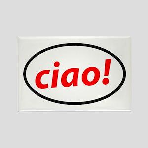 Ciao Italian Rectangle Magnet