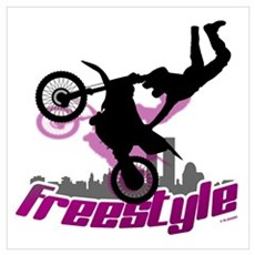 Freestyle Motorcycle Poster