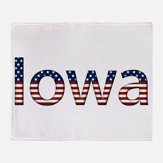 Iowa Stars and Stripes Throw Blanket