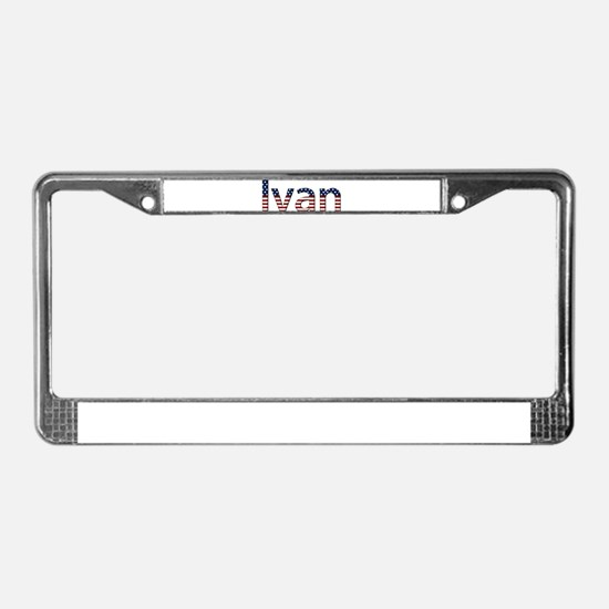 Ivan Stars and Stripes License Plate Frame