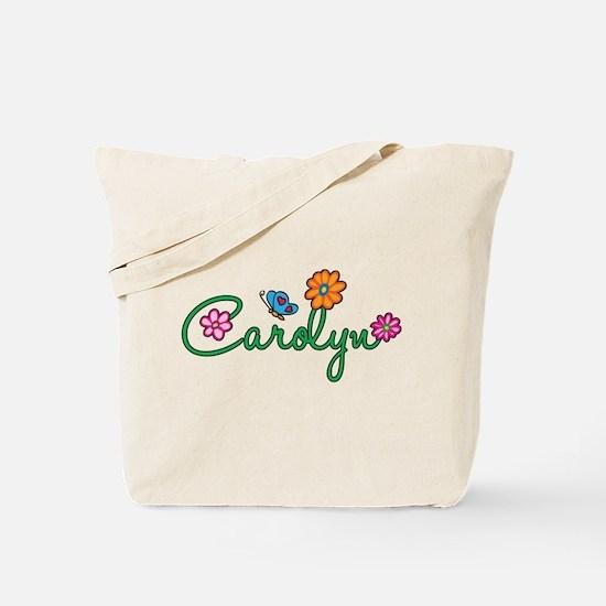 Carolyn Flowers Tote Bag
