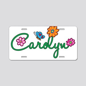 Carolyn Flowers Aluminum License Plate