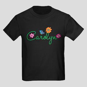 Carolyn Flowers Kids Dark T-Shirt