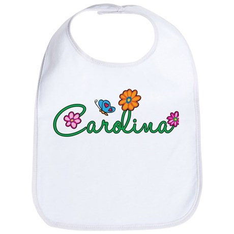 Carolina Flowers Bib