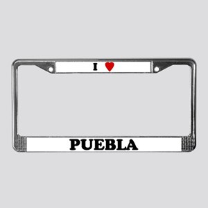 I Love Puebla License Plate Frame