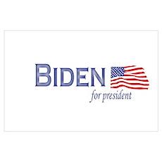Joe Biden for president flag Poster