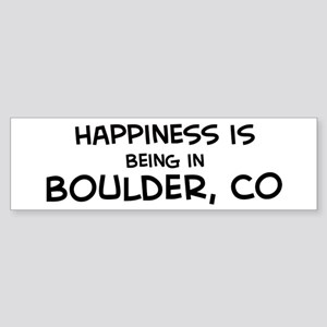 Happiness is Boulder Bumper Sticker