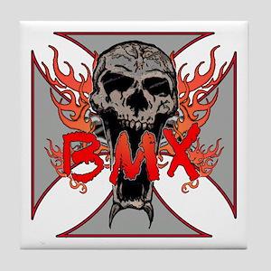 BMX skull 5 Tile Coaster