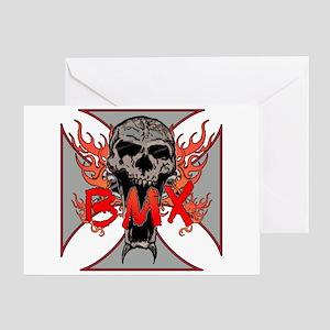 BMX skull 5 Greeting Card