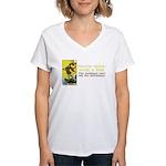 Never Argue With a Fool Women's V-Neck T-Shirt