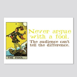 Never Argue With a Fool Postcards (Package of 8)