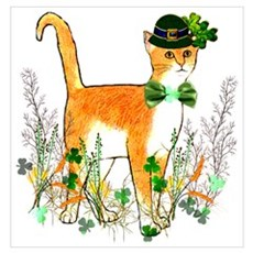 St. Patrick's Day Cat Poster