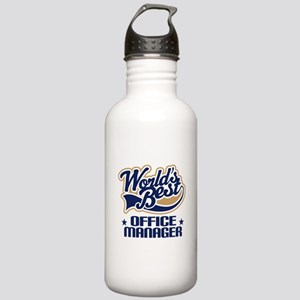 Office Manager (Worlds Best) Gift Stainless Water